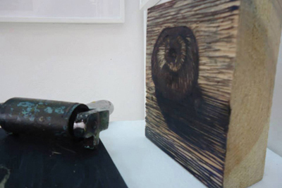 Linocuts, woodcuts, etchings